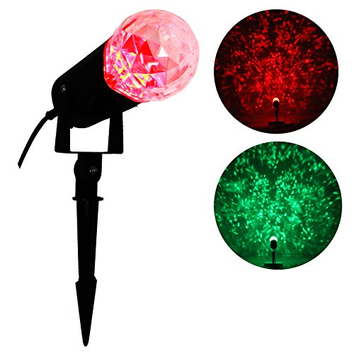 Qoolshow-Kaleidoscope-Rotating-Outdoor-LED-Spotlight-Light-Show-Red-and-Green-for-Halloween-Decoration