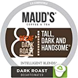 Maud's Decaf Dark Roast Coffee (Decaf Tall Dark & Handsome), 100ct. Recyclable Single Serve Coffee Pods - Richly satisfying arabica beans California Roasted, k-cup compatible including 2.0