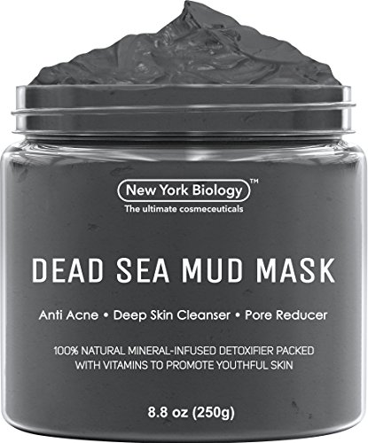 New York Biology Dead Sea Mud Mask for Face and Body – Natural Spa Quality Pore Reducer for Acne, Blackheads and Oily Skin – Tightens Skin for A Healthier Complexion – 8.8 oz