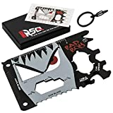 23-in-1 Credit Card Multi Tool GIFTS FOR HIM   Unique Gifts for Men Who Have Everything   COOLEST GADGETS Regalos para Hombre Multi Tool Card Set - BadBoy Edition v3.0