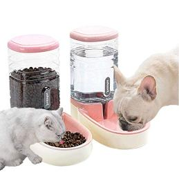 Lucky-M-Pets-Automatic-Feeder-Set-Pink