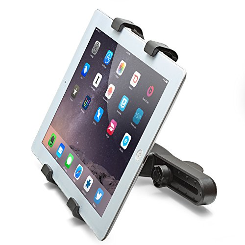 Aduro U-Grip Adjustable Universal Car Headrest Mount for Tablets, Apple iPad, Galaxy Tablet (Retail Packaging) (Black)
