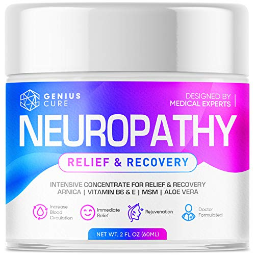 Neuropathy Nerve Pain Relief Cream – Maximum Strength Relief Cream for Foot, Hands, Legs, Toes Includes Arnica, Vitamin…