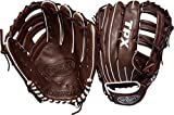 Louisville Slugger 2018 Tpx Outfield Baseball Glove - Left Hand Throw Dark Brown/Red, 12.75'