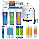Express Water Reverse Osmosis Water Filtration System - 5 Stage RO Water Purifier with Faucet and Tank - Under Sink Water Filter - Plus 5 Replacement Filters - 50GPD