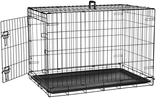 AmazonBasics Single Door Folding Metal Cage Crate For Dog or Puppy - 36 x 23 x...