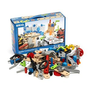 BRIO Builder – 34587 Builder Construction Set | 135-Piece Construction Set for Kids Age 3 and Up 51b10bLEBuL