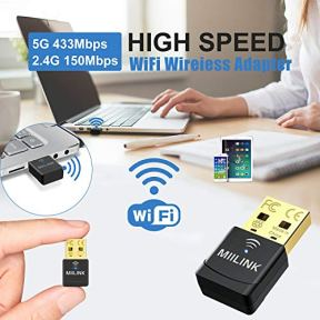 Upgraded-MIILINK-USB-Wi-Fi-Adapter-Dual-Band-24G-150Mbps-5G-433Mbps-Wireless-WiFi-Dongle-Network-Card-for-PC-Laptop-Desktop-Win108817VistaXP2000-Mac-OS-X-No-CD-Needed