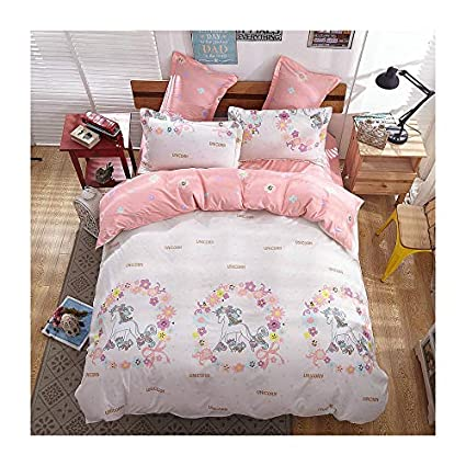 Kfz Girls Magic Unicorn Bed Set Twin Full Queen And Standard Sizes  Duvet Cover