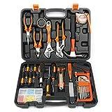 Yaetek 100-Piece Home Tool Kits Multi-functional & Universal 100 IN 1 Precision Screwdriver Hammer Set Repair Tool Kit for Household Electronics Test Repair Maintenance (100-PIECE)