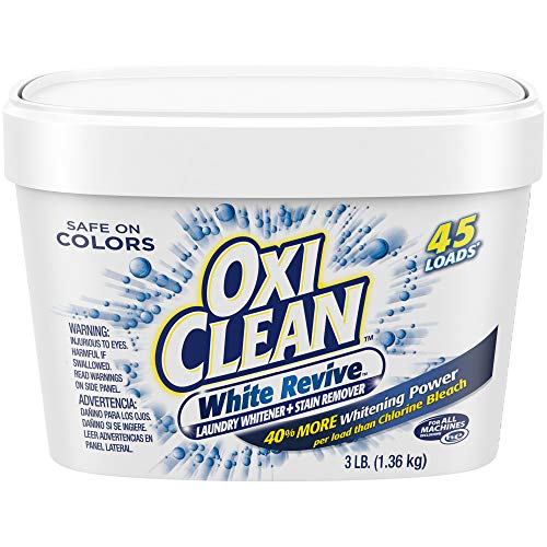 OxiClean White Revive Laundry Whitener + Stain Remover, 3 lbs.