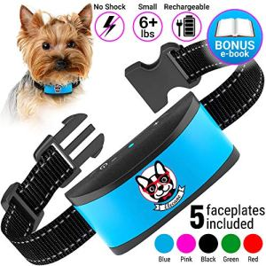 Small Dog Bark Collar Rechargeable - Anti Barking Collar For Small Dogs - Smallest Most Humane Stop Barking Collar - Dog Training No Shock Bark Collar Waterproof - Safe Pet Bark Control Device 10