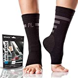 Ankle Brace Compression Support Sleeve (Pair) for Men & Women, Perfect Brace for Injury Recovery, Eases Swelling, Supports Your Tendon and Helps Relieve Pain from Achilles Tendonitis by POWERLIX