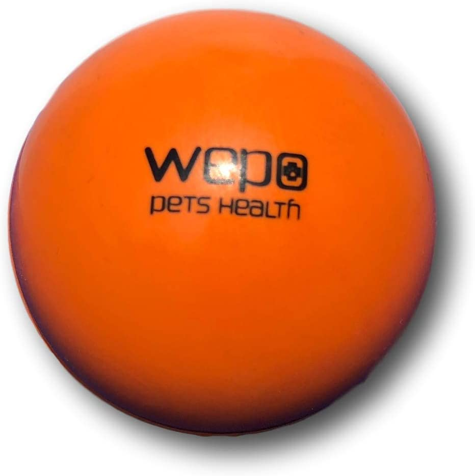 WEPO Perros juguete pelota L robusto lanzamiento caucho natural I Natural de goma juguete L 200 g L para perros grandes y pequeñas L goma dura – Pelota para perros