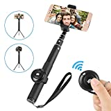 Siroflo Selfie Stick & Tripod, Bluetooth Extendable Selfie Stick with Wireless Remote and Tripod Stand Selfie Stick Compatible with iPhone X/8/8 Plus/7/7 Plus, Galaxy S9/8/7/6/Note and More