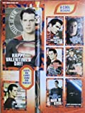 1 X Superman Man of Steel 16 Valentines Cards with 16 Pencils