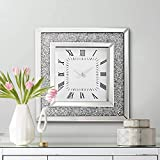 Newhill Designs Julian 19 3/4' High Square Jeweled Wall Clock