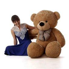 HUG-n-FEEL-SOFT-TOYS-Long-Soft-Lovable-hugable-Cute-Giant-Life-Size-Teddy-Bear-6-Feet-Brown