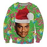 KSJK Unisex Funny Print Ugly Christmas Sweater Jumper 015 XL