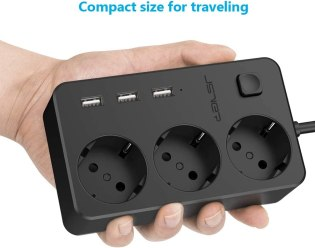 Regleta 3-USB y 3-Tomas