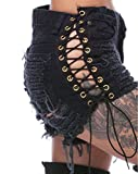 Product review of Nicetage Women's Lace up Ripped Short Jeans Sexy Stretchy Destroyed Denim Shorts Mini Hot Pants