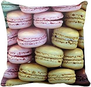 Diseño de varios colores macarrón Macaroons almohada cojín