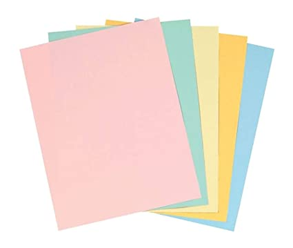 Staples Pastels Colored Copy Paperorted   Inch Letter Size Lb