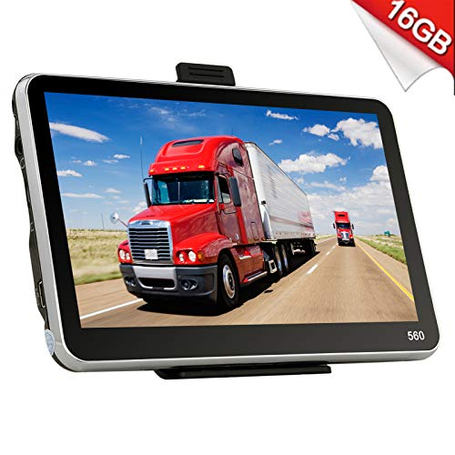 Xgody 560 Portable Truck GPS Navigation System for Car 5 Inch Sat Nav Touch Screen Support Spoken Turn-by-Turn Directions and Speed Limit Displays with Lifetime Free Maps Updated Sunshade