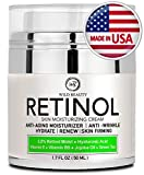 NEW 2019 Retinol Cream Moisturizer for Face and Eye Area - Made in USA - with Hyaluronic Acid - Active Retinol 2.5% - Anti Wrinkle Cream to Reduce Wrinkles & Fine Lines - Best Day and Night