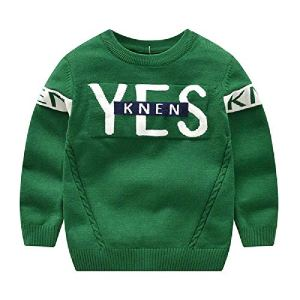 BCVHGD Kids Boy Girl Sweater Autumn Winter Child Clothes Cotton Letter Children Tops Pullover Knit Sweaters