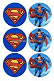 1/4 ~ Superman & Logo Rounds ~ Edible Image Cake / Cupcake Topper!!!