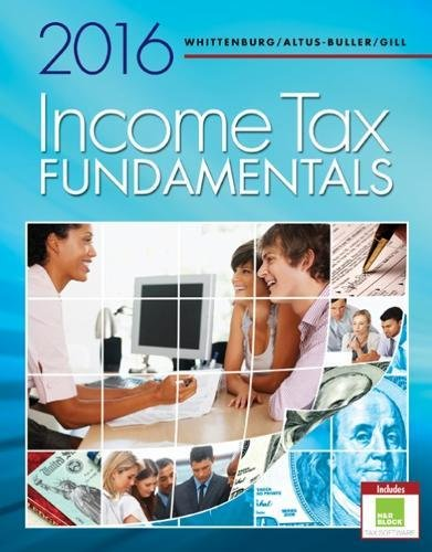 Income Tax Fundamentals 2016 (with H&R BlockTM Premium & Business Access  Code)