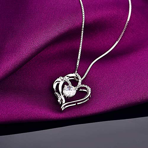White Gold Plated Pendant Necklace