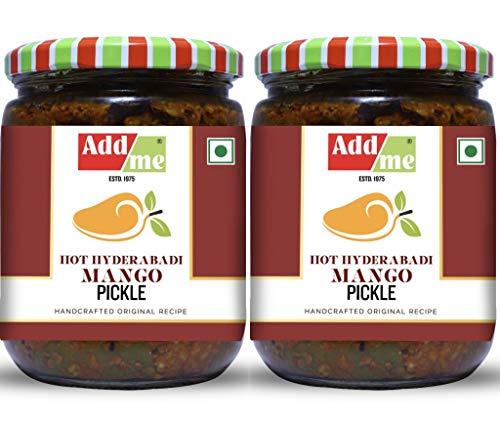 51bKj1vwhiL - Add me Hot Mango Pickle in Garlic Masala 1KG, Aam ka achar in lehsun adrak Glass jar 2 x 500gm