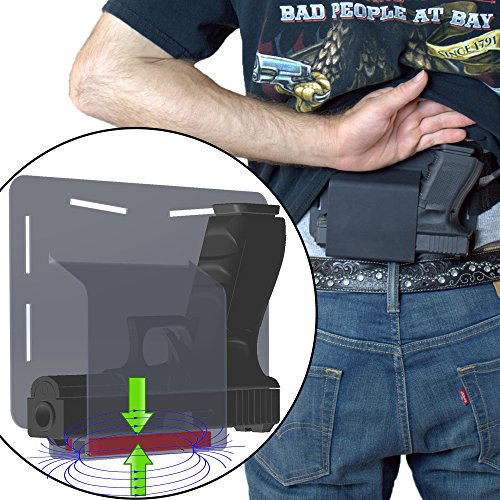 FreedomTactical Magnetic Belly Band Comfortable Concealed Carry Gun Holster Got Your Back Holster Glock 19 23 38 25 32 26 27 29 30 39 28 33 42 43 36 Smith Wesson M&P MP Shield small of back