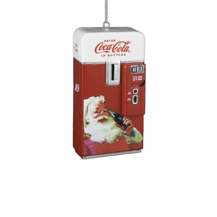 Vintage Coca Cola Santa Christmas Ornament. Here are some of the best Vintage Christmas Decor Ideas I've found this year. #AbbottsAtHome #ChristmasDecor #ChristmasIdeas