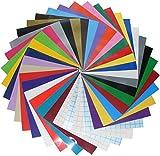 Qbc Craft 12x12 Permanent Adhesive Vinyl Sheets (36 Pack) Including...