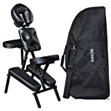"""ROBIN"" Black Salon Spa Portable Massage Chair - MC-50BLK"