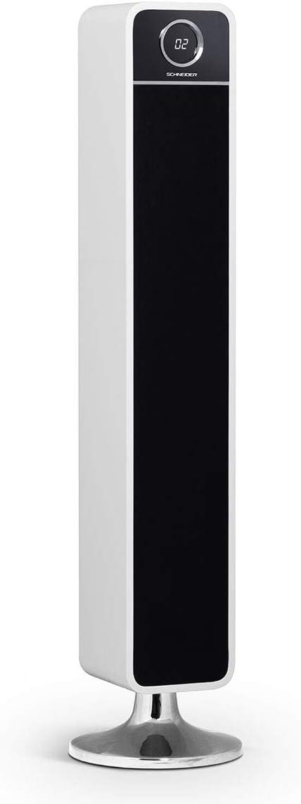 Schneider Consumer - Torre de sonido Feeling´s (Vintage) HD SC660SPKBLK, Sistema de Audio 2.0, Potencia total, 120W, Bluetooth 2.1, USB compatible con MP3, Lector de tarjetas SDHC, Blanco