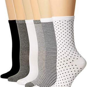 Amazon Essentials Women's 6-Pack Casual Crew Sock