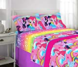 Franco Kids Bedding Super Soft Microfiber Sheet Set, 4 Piece Full Size, Hasbro My Little Pony