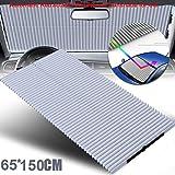 KELYNN Windshield Sun Shade Automatic Retractable Foldable Car Windows Sun Shade for Windshield SUV Car Truck Sunshade