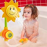 Product review for GZQ Baby Bath Toys Sunflower Water Shower Spray Tub Fountain Toys for Boys Kids Girls Toddlers Party Favors Christmas Gift
