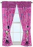 Disney Minnie Mouse Window Panels Curtains Drapes Pink Bow-tique, 42' x 63' each