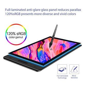 HUION-KAMVAS-Pro-12-GT-116-Drawing-Tablet-with-Full-Laminated-Screen-Digital-Graphics-Pen-Display-with-Battery-Free-Stylus-Tilt-Touch-Bar-Adjustable-Stand-116inch