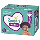 Diapers Size 6, 86 Count - Pampers Cruisers Disposable Baby Diapers, Enormous Pack