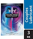Lubricant for Him and Her, K-Y Yours & Mine Couples Lubricant, 3 oz, Couples Personal Lubricant and Intimate Gel. Sex Lube for Women, Men & Couples.