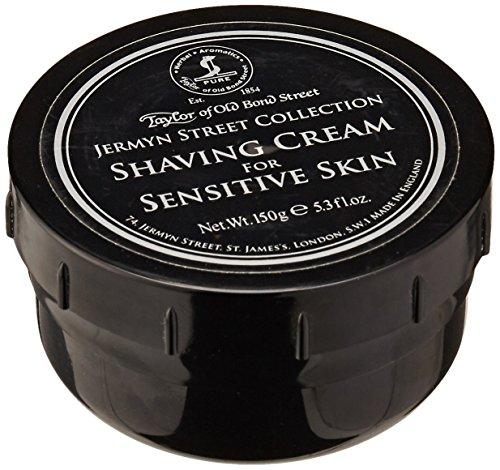 Taylor of Old Bond Street Jermyn Street Luxury Shaving Cream for Sensitive Skin, 5.3-Ounce