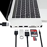 HyperDrive Type C Adapter, Sanho Solo 7-in-1 USB C Hub for MacBook Pro, PC w USB-C Port: USBC 40Mbps 100W Power Delivery, USBC 5Gbps Data, 4K HDMI, microSD/SD Card Reader, 2xUSB 3.0 Ports, Audio Jack