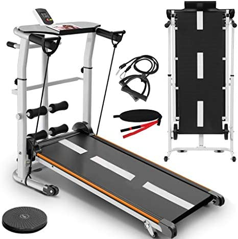 NBSR Folding Treadmill for Home,Treadmills for Women 340lbs Weight Capacity Silent Treadmill Folding Shock Running, Supine, Twisting, Draw Rope 4-in-1 Mechanical Mini Walking Machine 3